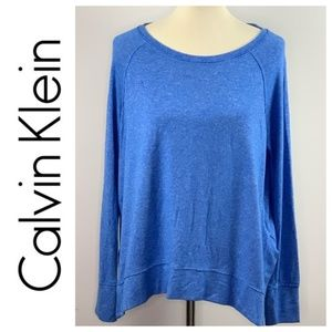 Calvin Klein Blue Performance Quick Dry Sweater XL